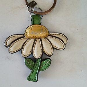 Coach flower key fob